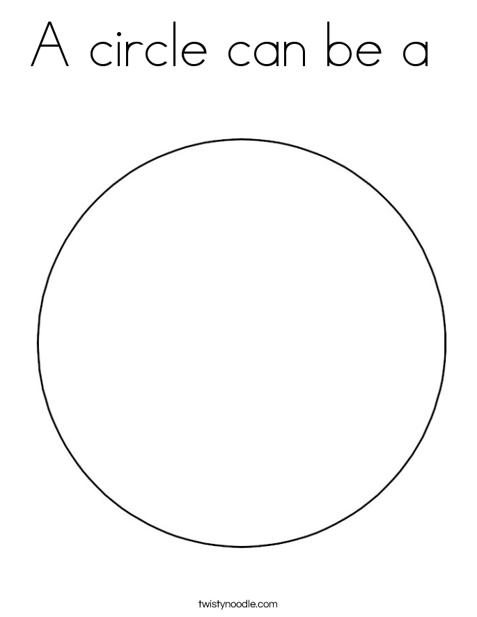 A circle can be a  Coloring Page