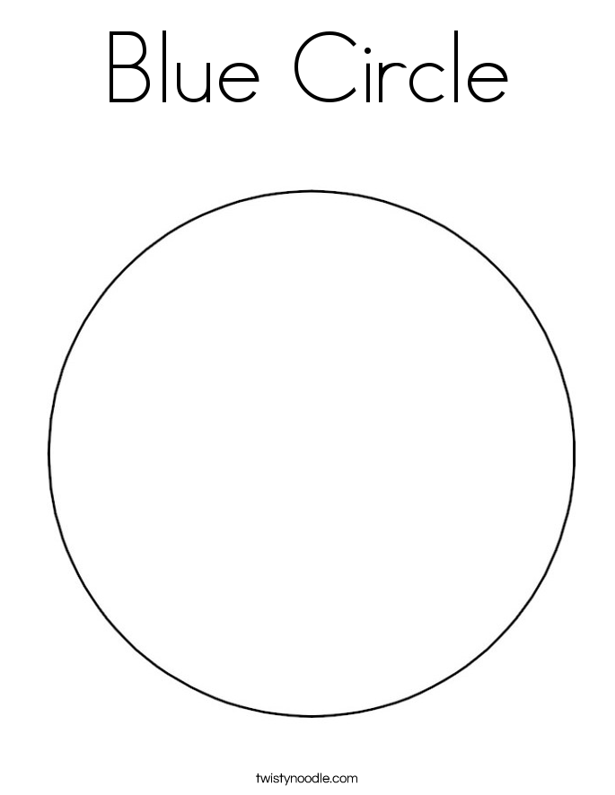 Blue Circle Coloring Page