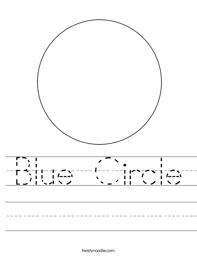 Blue Circle Worksheet