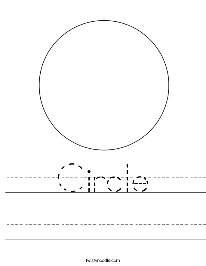 Circle Worksheet Twisty Noodle