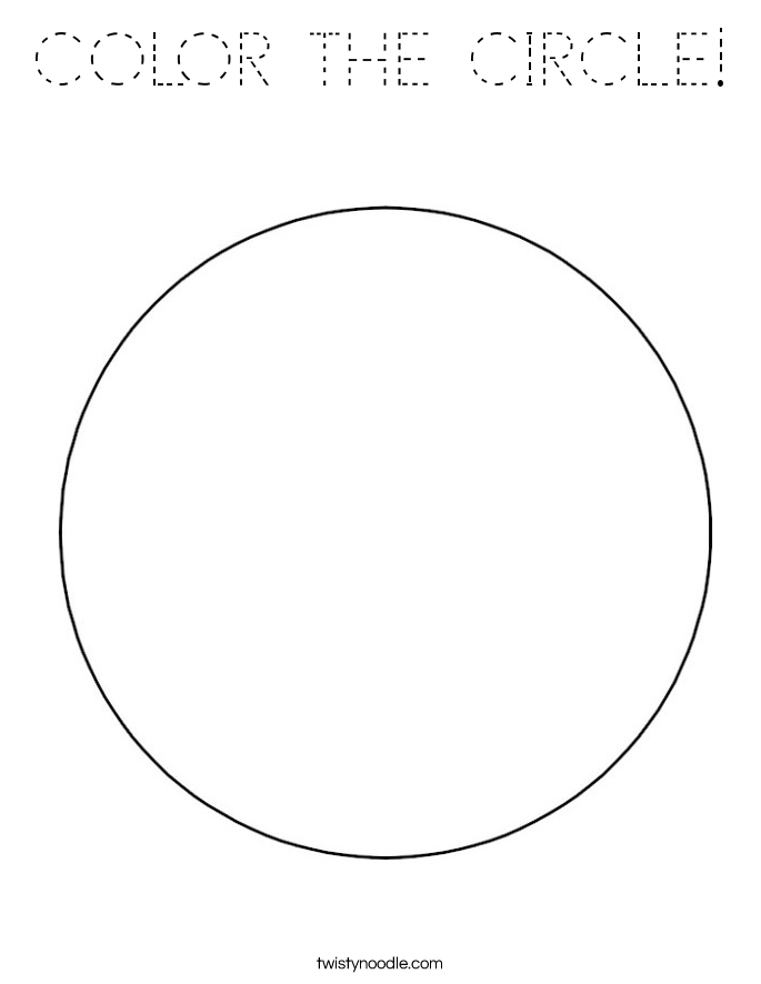 COLOR THE CIRCLE! Coloring Page