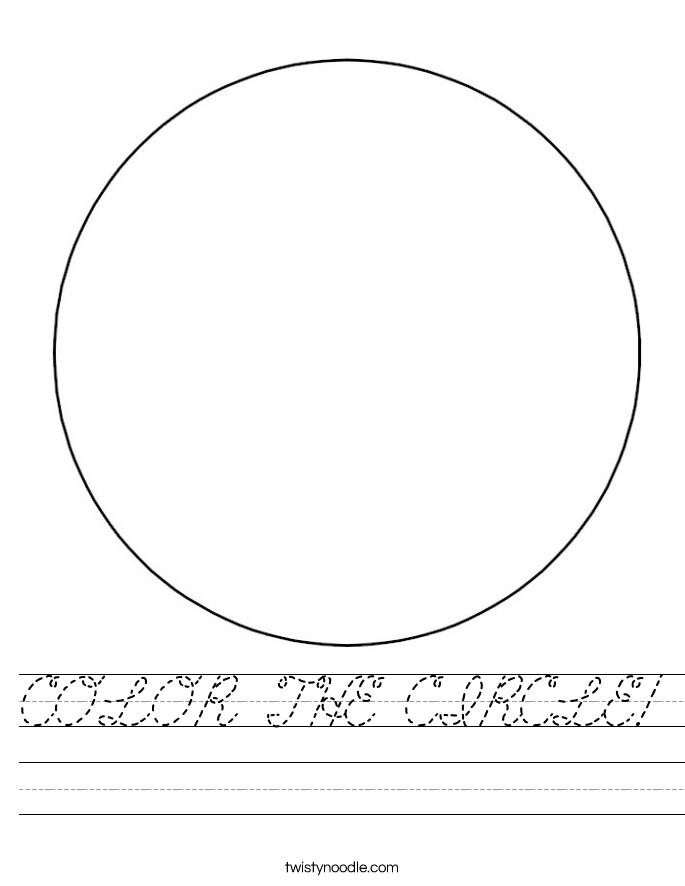 COLOR THE CIRCLE! Worksheet