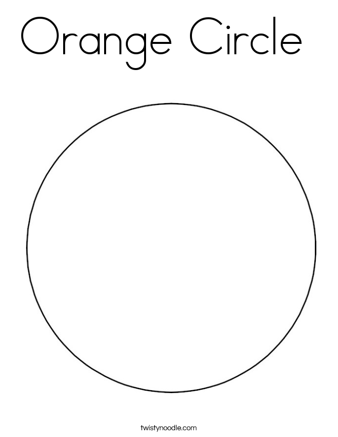 Orange Circle Coloring Page Twisty Noodle Circle Coloring Page