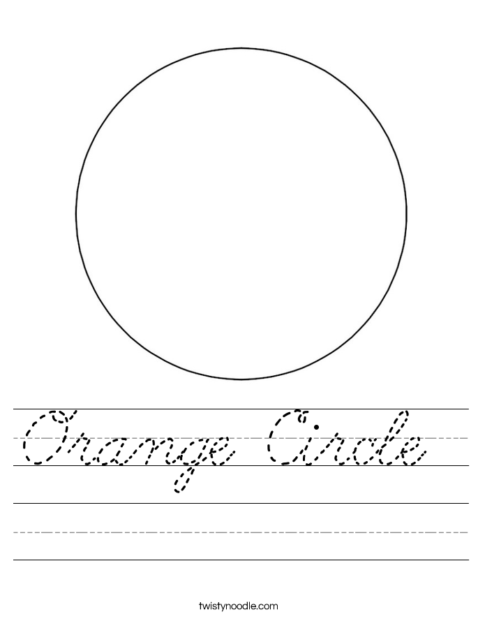 Orange Circle  Worksheet