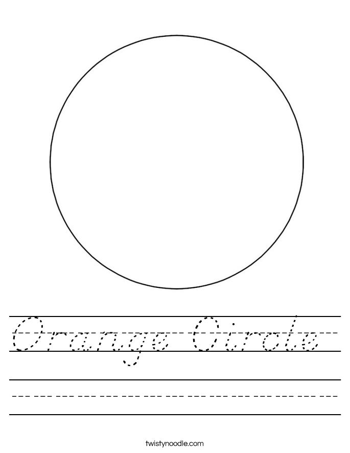Orange Circle  Worksheet