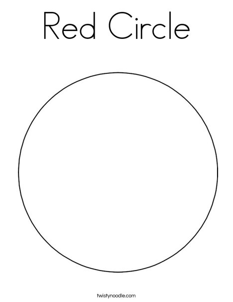 Red circle coloring page twisty noodle for Circle coloring page