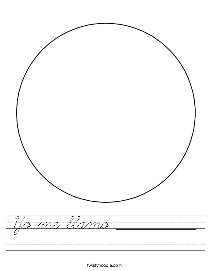 Yo me llamo _____________ Worksheet
