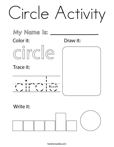 Circle Activity Coloring Page