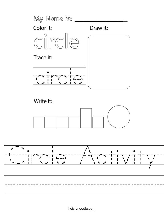 Circle Activity Worksheet