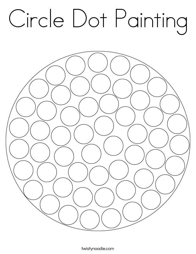 Circle Dot Painting Coloring Page