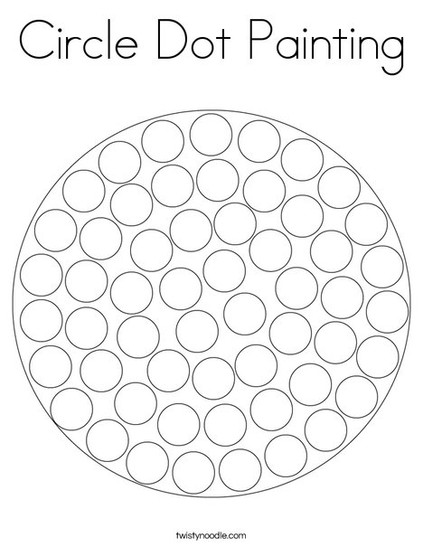Circle Dot Painting Coloring Page Twisty Noodle