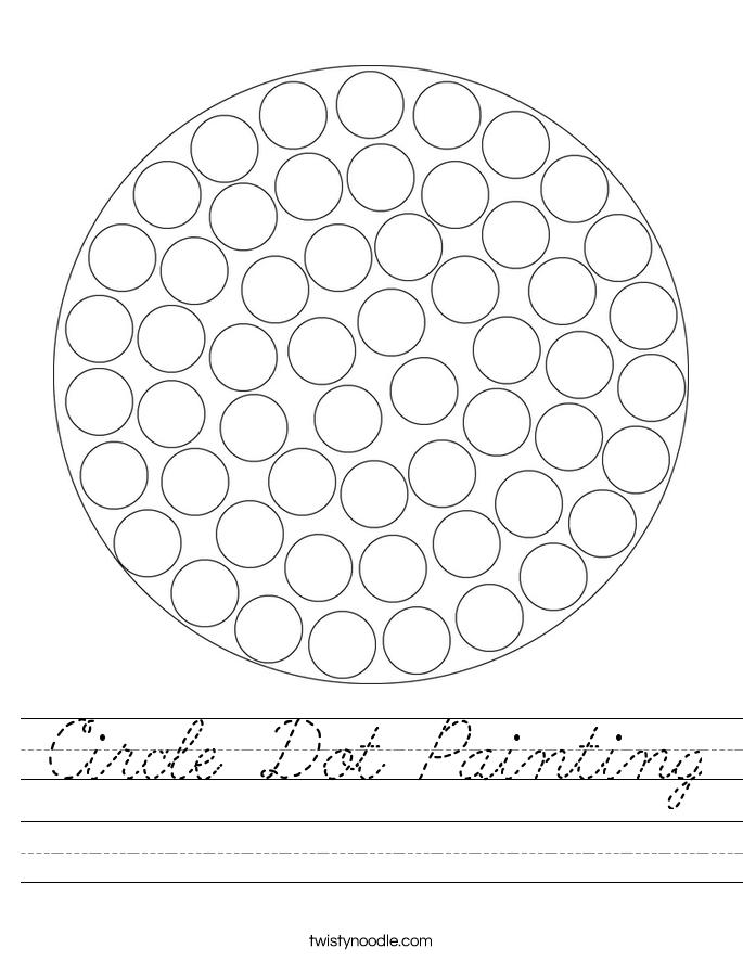 Circle Dot Painting Worksheet