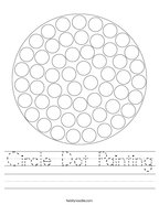 Circle Dot Painting Handwriting Sheet