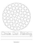 Circle Dot Painting Handwriting Sheet