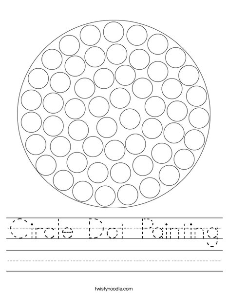 Circle Dot Painting Worksheet