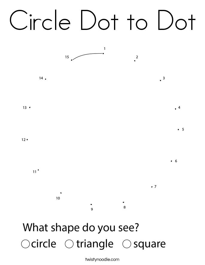 Circle Dot to Dot Coloring Page