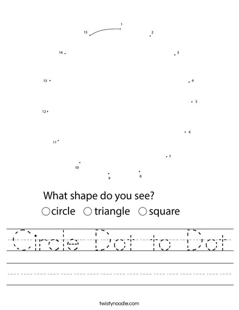 Circle Dot to Dot Worksheet