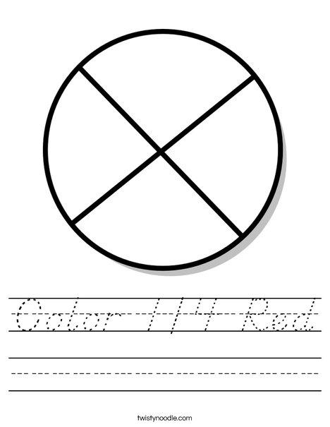Circle Fraction Worksheet