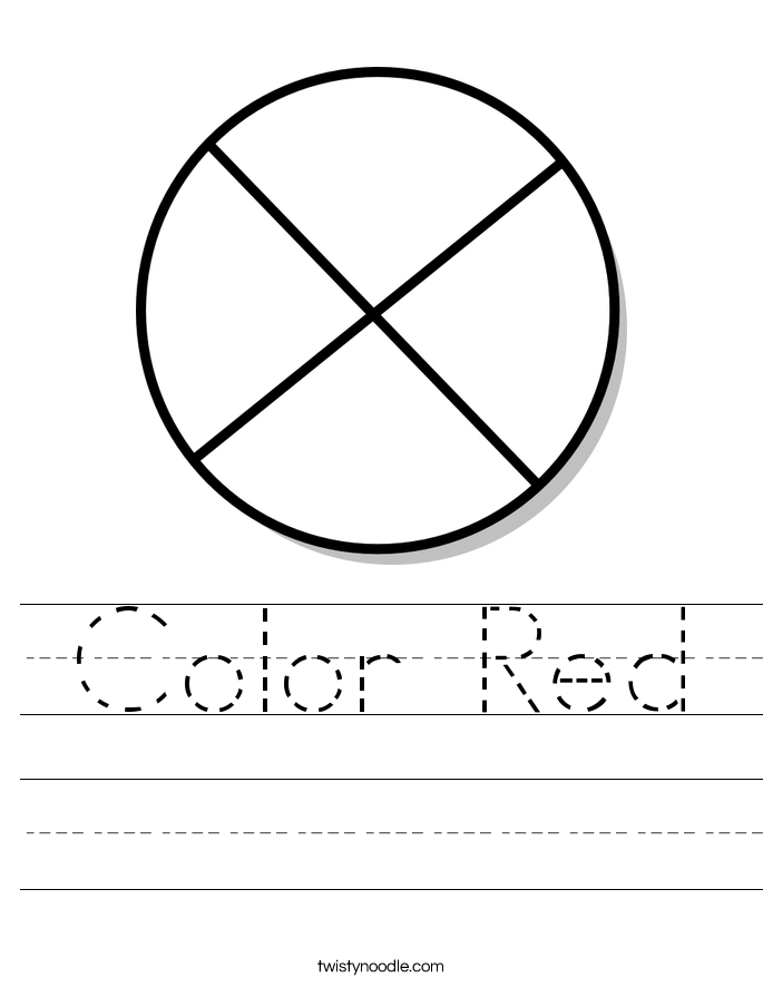 Color Red Worksheet