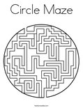 Circle Maze Coloring Page
