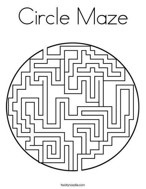 Circle Maze Coloring Page