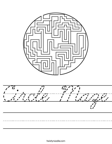 Circle Maze Worksheet