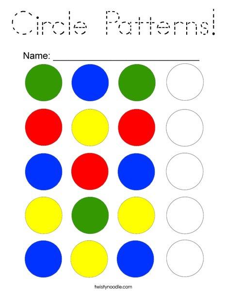 Circle Patterns Coloring Page