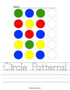 Circle Patterns Handwriting Sheet