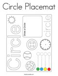 Circle Placemat Coloring Page