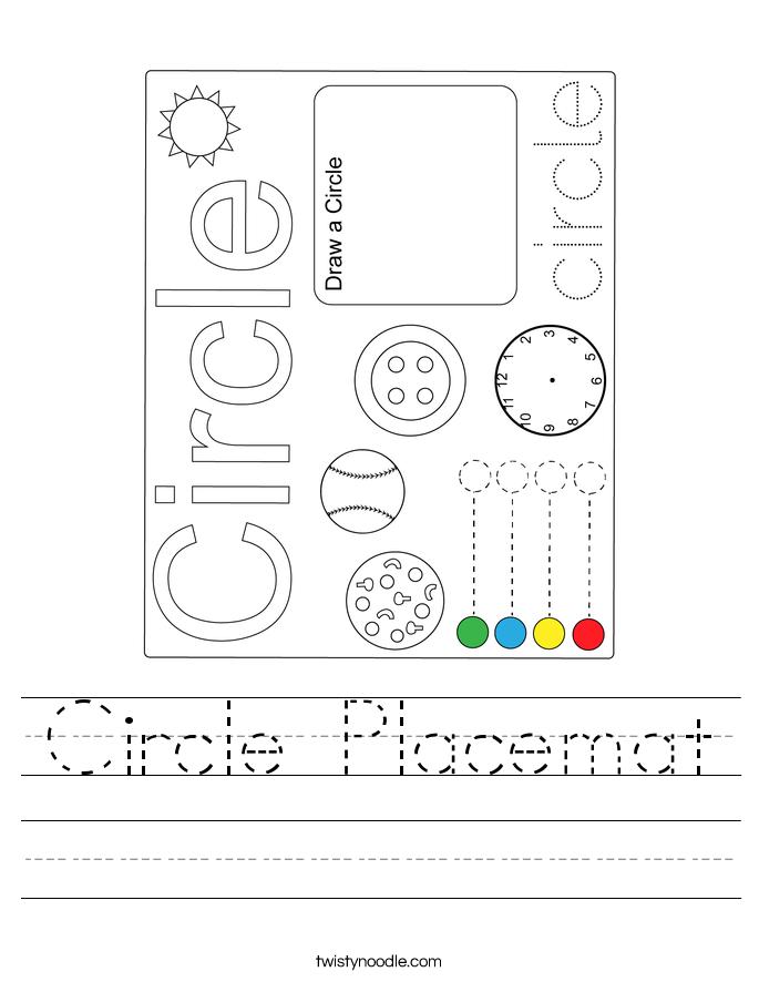 Circle Placemat Worksheet