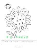 Circle the letters y-e-l-l-o-w  Handwriting Sheet