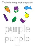 Circle the things that are purple Coloring Page
