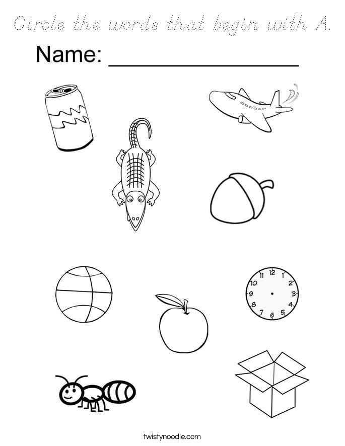 Circle worksheets for kinder