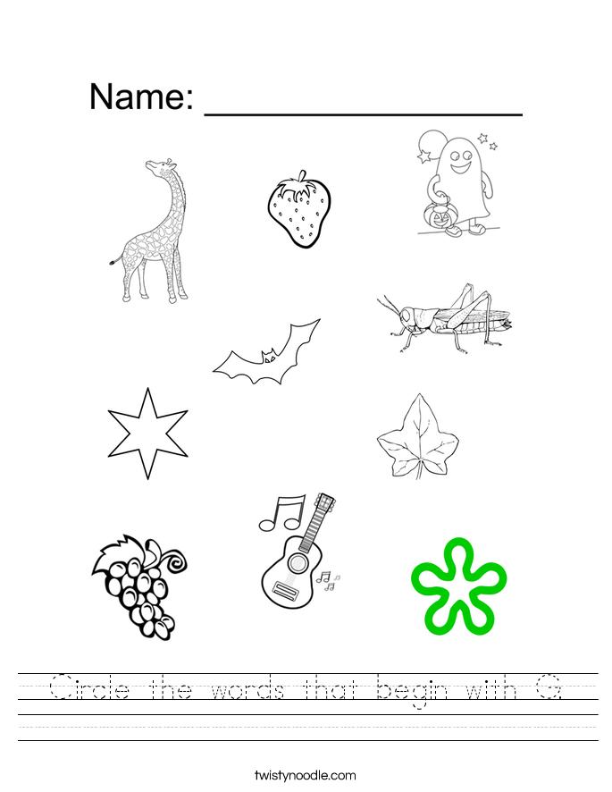 Free Letter G Alphabet Learning Worksheet for Preschool