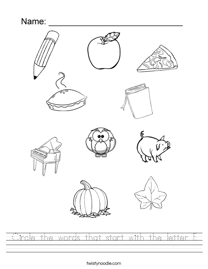 Lovely Letter P Worksheets