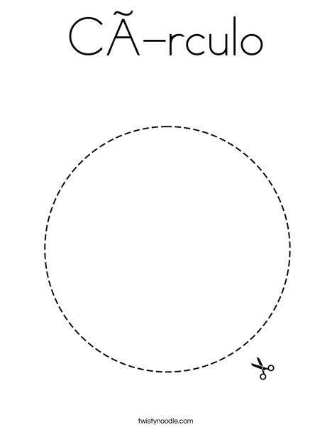 Circle Coloring Page