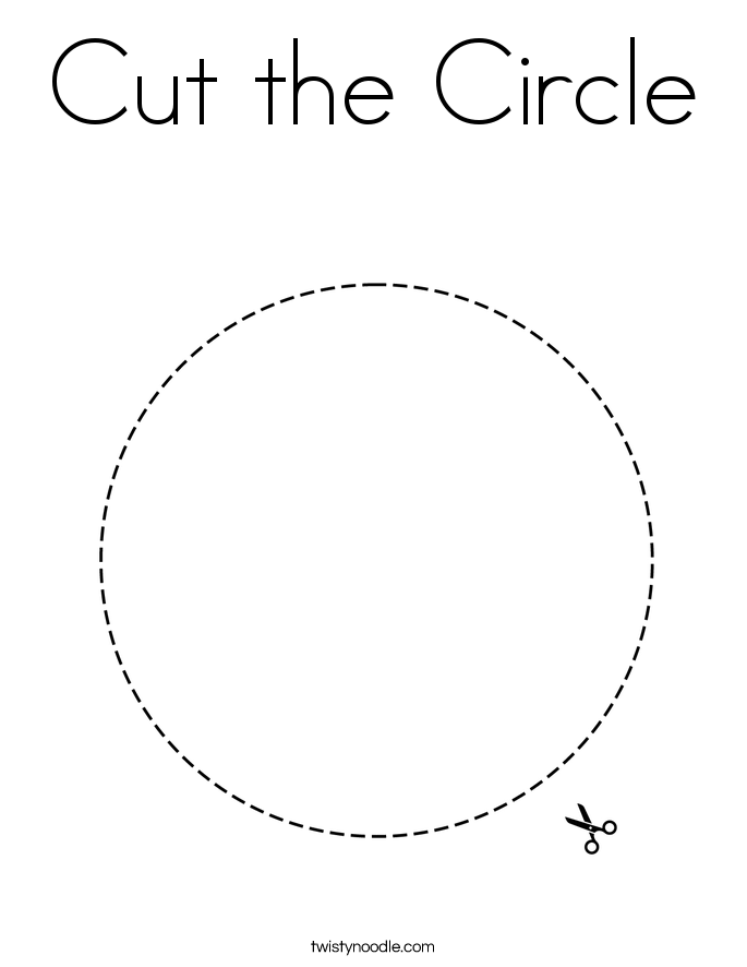 Cut the Circle Coloring Page