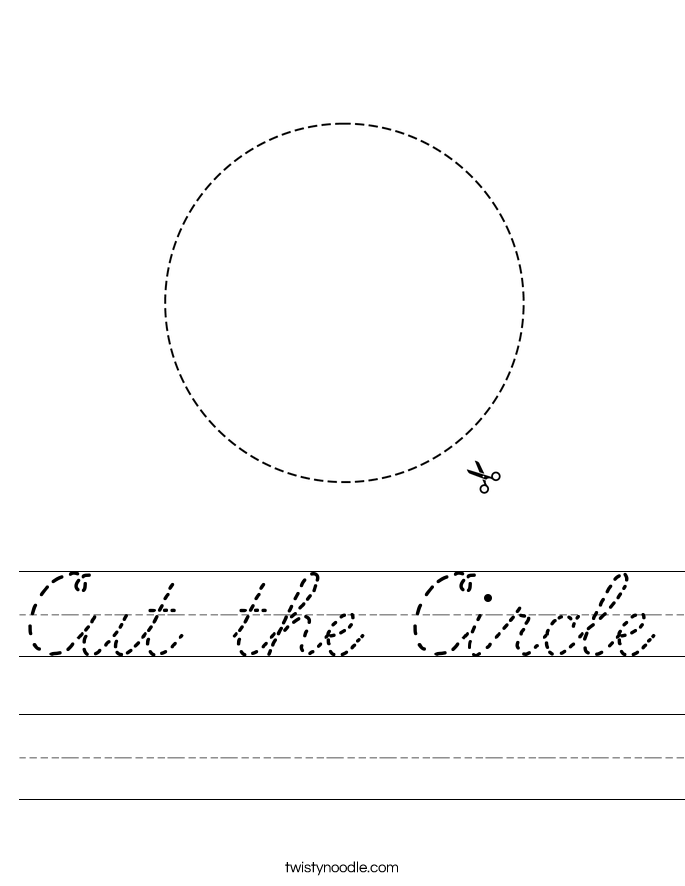 Cut the Circle Worksheet