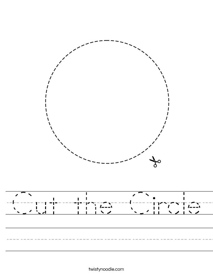 Cut the Circle Worksheet