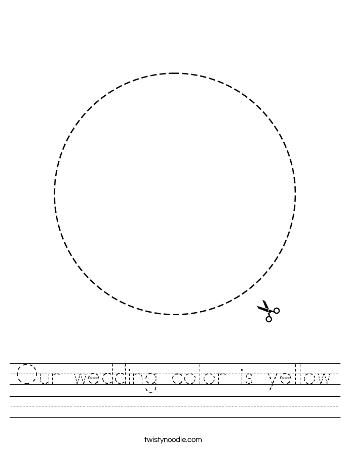Our wedding color is yellow Worksheet