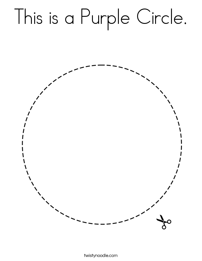 This is a Purple Circle. Coloring Page