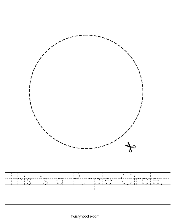 This is a Purple Circle. Worksheet