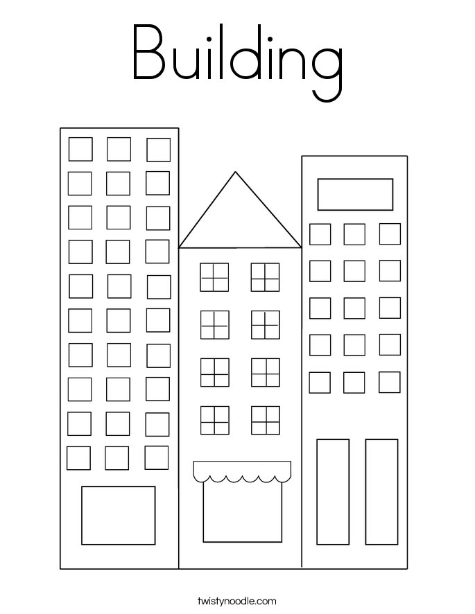 Building Section Sketch Sketch Coloring Page