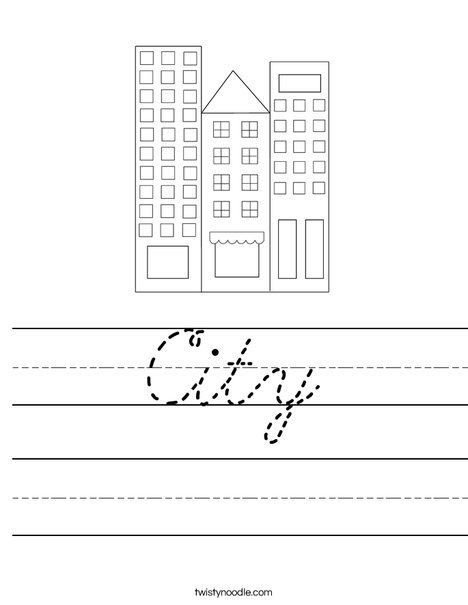 City Worksheet