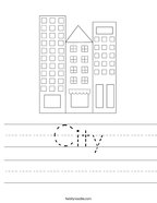 City Handwriting Sheet