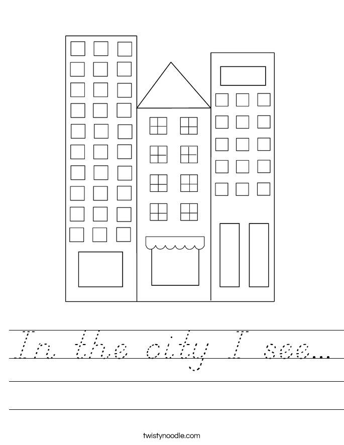 In the city I see... Worksheet