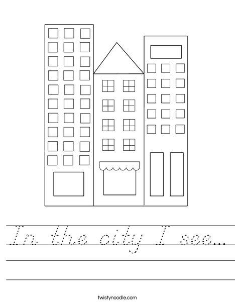 City Worksheet