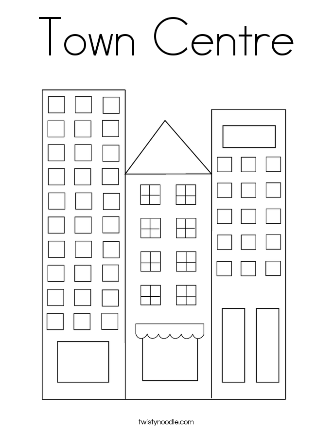 Town Centre Coloring Page