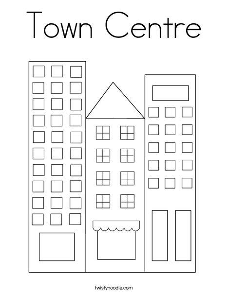 City Coloring Page