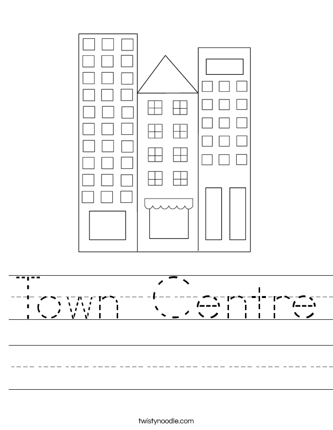 Town Centre Worksheet
